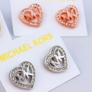 2 pairs of MK stud earings